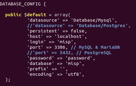 Configurazione MariaDB